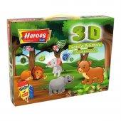 3d Orman Hayvanları Oyun Hamuru Seti