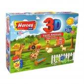 3d Çiftlik Hayvanları Oyun Hamuru Seti