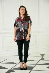 Günay Kadın Gömlek Rg6706 İlkbahar Yaz Renk Mixli-BORDO