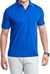 T-shirt Polo Yaka Kısakol 100 Pamuk Cepli Sax Mavi