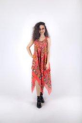 Filizer Uzun Askılı Elbise Taş Baskı 158