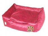 Tay Tüyü Köpek Yatağı 45x65 Cm Bordo