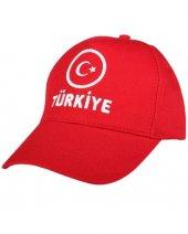 Perlotus Kırmızı Türkiye Ay Yıldız Şapka
