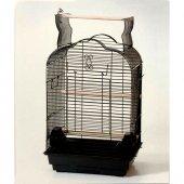 Kafes 1718 R Papağan Siyah Beyaz 47x36x70 Cm