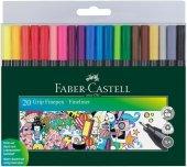 Faber Castell Grip Finepen 0.4 Fineliner 20 Li Poşet