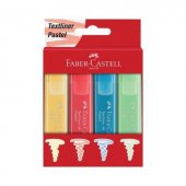 Faber Castell Fosforlu Kalem 46 Pastel Renkler 4lü Karton