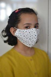 Lacivert Yıldızlı Çocuk Maskesi