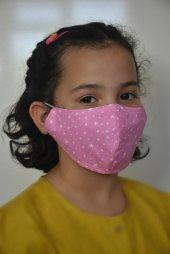 Yıldızlı Pembe Çocuk Maskesi