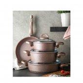 Emsan Premium Granit Tencere Seti Golden Pink 7...