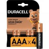 Duracell Alkalin Aaa İnce Kalem Pil (4 Lü)