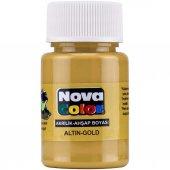 Nova Color Akrilik Boya 30 cc Şişe Altın (NC-234)