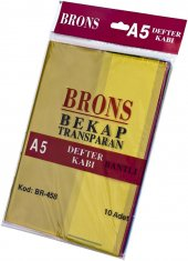 Brons A5 Bantlı Hazır Defter Kabı 10 Lu Set Karışık Renk (Br 458)