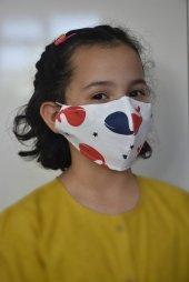 Kırmızı Balinalı Çocuk Maskesi