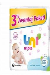 Uni Wipes Islak Bebek Havlusu 3lü Fırsat Paketi 192 Yaprak