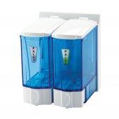 Palex 3564 0 Mini Sıvı Sabun Dispenseri 2 X 250 Cc Şeffaf Mavi
