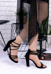 Beno Siyah Süet Topuklu Ayakkabı