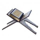 Yaldızlı Kaplama Gümüş Rahleli Kuranı Kerim - Çanta Boy - Hayrat Neşriyat