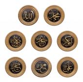 8 Li Cami Takımı Gold Renk 56 Cm