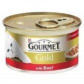Gourmet Gold Parça Etli Sığır Etli 85 Gr