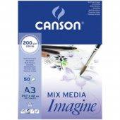 Canson Mix Media İmagine Kuru Sulu Tekniğe...