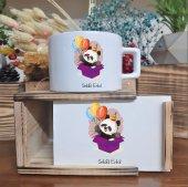 Kişiye Özel Panda Tasarımlı Ahşap Kutulu Lüks...