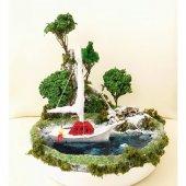Deniz Temalı Mavi Koy Minyatür Bahçe