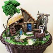 özel Tasarım Dağ Evi Temalı Minyatür Bahçe