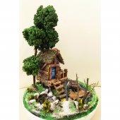 Göl Evi Tasarımlı Minyatür Bahçe