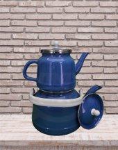 Alev Emaye Çinko Çaydanlık Mavi