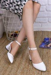 Jery Beyaz Cilt Topuklu Ayakkabı