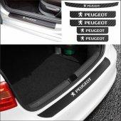 Peugeot 206 Bağaj ve Kapı Eşiği Karbon Sticker (SET)