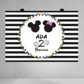 Mickey Mouse Temalı Doğum Günü Afişi