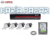 Retro 4k 2 Mp 4 Kameralı 1080p Full Hd Tam Set