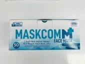Maskcom 3 Katlı Cerrahi Maske Telli 50li