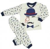 Erkek Bebek Şapkalı Bıyık Modelli Pijama Takımı...