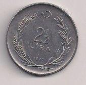TC. 2,5 Lira 1977-Düz (mp0484)