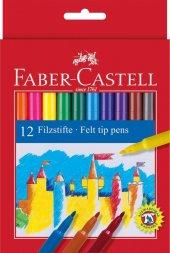 Faber Castell Keçeli Boya Kalemi 12 li Karton Kutu 12 Renk