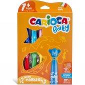 Carioca Teddy Jumbo Bebek Süper Yıkanabilir Keçeli Boya Kalemi 12li