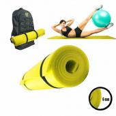 Pilates Minderi, Yoga ve Egzersiz Matı - 0,6 mm Sarı