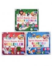 +3 Yaş Eğitici Boyama Kitapları Seti 3 Kitap (Parıltı Yayınları)