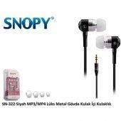Snopy Sn 322 Kulak İçi Kulaklık Siyah Metal...