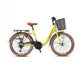 Kron Tetra 3,0 City Bike 24 Jant 17 Kadro V fren Sıcak Sarı Kahverengi Siyah
