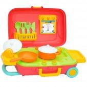 Dede Candy Tekerlekli Çekmeli Bavul 15 Prç Mutfak Seti 03477