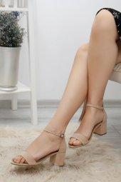 5cm Topuklu Ayakkabı Süetbej 3901.264.