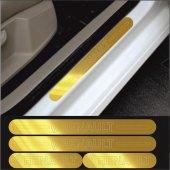 Renault Gold Aynalı Pleksi Kapı Eşiği (4lü Set)