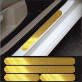 Seat Leon Gold Aynalı Pleksi Kapı Eşiği (4lü Set)