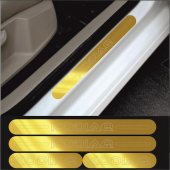 Skoda Kodiaq Gold Aynalı Pleksi Kapı Eşiği (4lü Set)