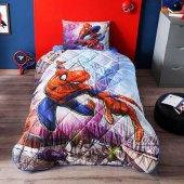 Taç Lisanslı Spiderman Yorgan Seti