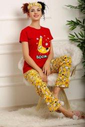 Kadın Pijama Takımı Kırmızı 2648.1059.