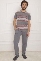 Erkek Pijama Takımı Füme 4051.1048.